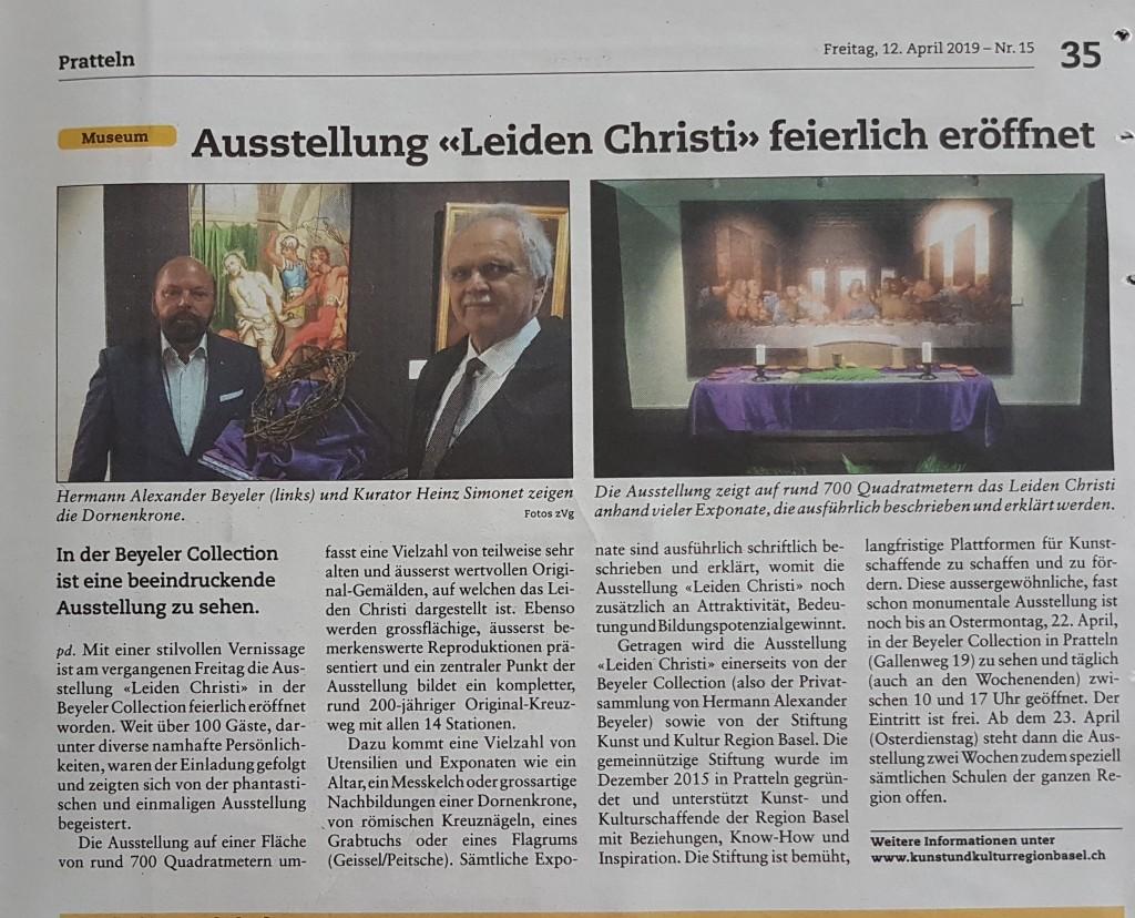 """Ausstellung """"Leiden Christi"""" feierlich eröffnet"""