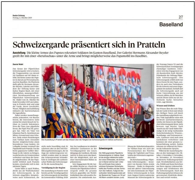 Schweizergarde präsentiert sich in Pratteln